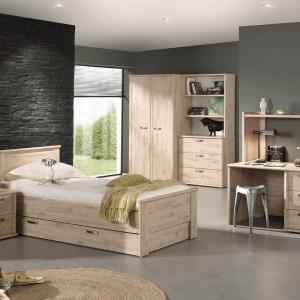 ARTHUR Chambre à Coucher (lit + garde robe + chevets)