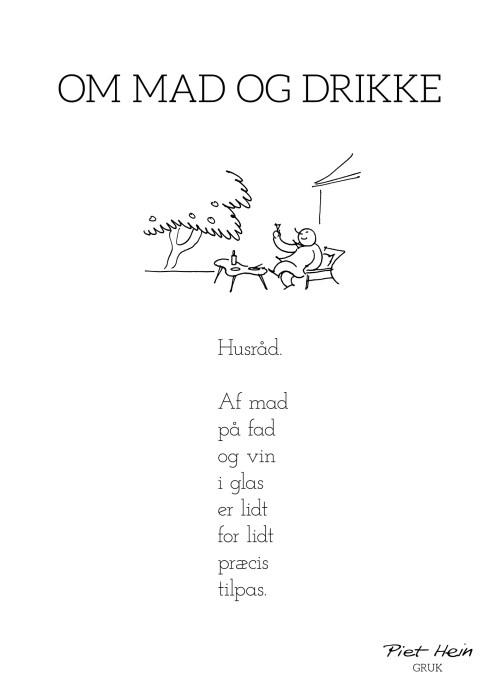 Piet Hein - Gruk - Om mad og drikke