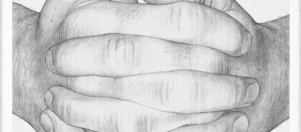 Børge Brendenbekk Folded Hands - Original