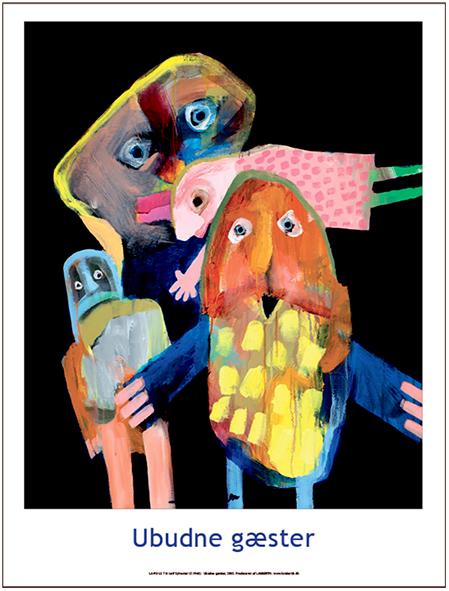 Plakaten Aarhus - Plakat af Leif Sylvester: Ubudne Gæster
