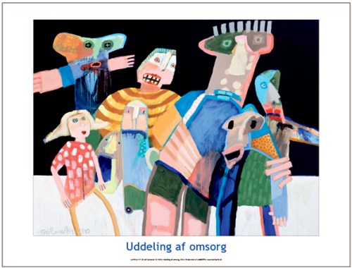 Plakaten Aarhus. Plakat af Leif Sylvester: Uddeling af Omsorg
