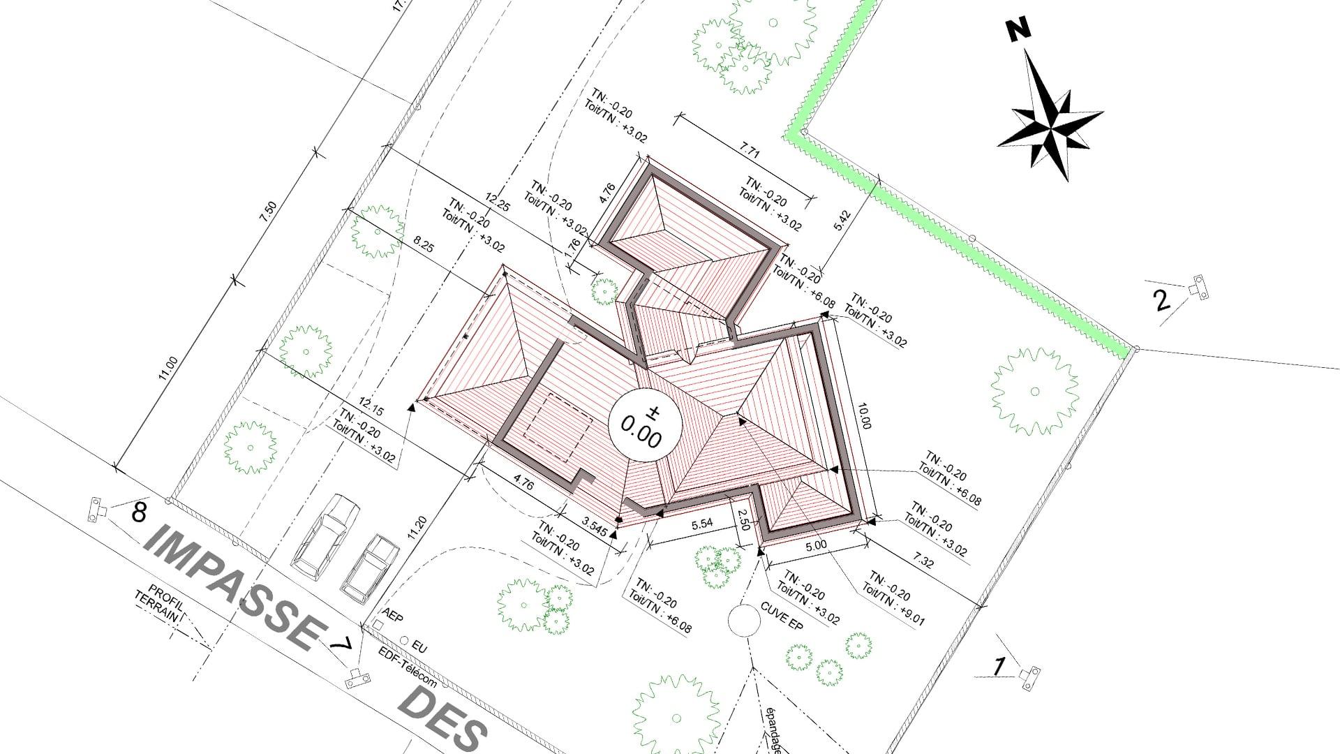 Le plan de masse du projet de l 39 existant l 39 tat futur - Plan de masse maison individuelle ...