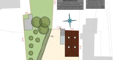 Plan de masse Lot déclaration préalable toiture