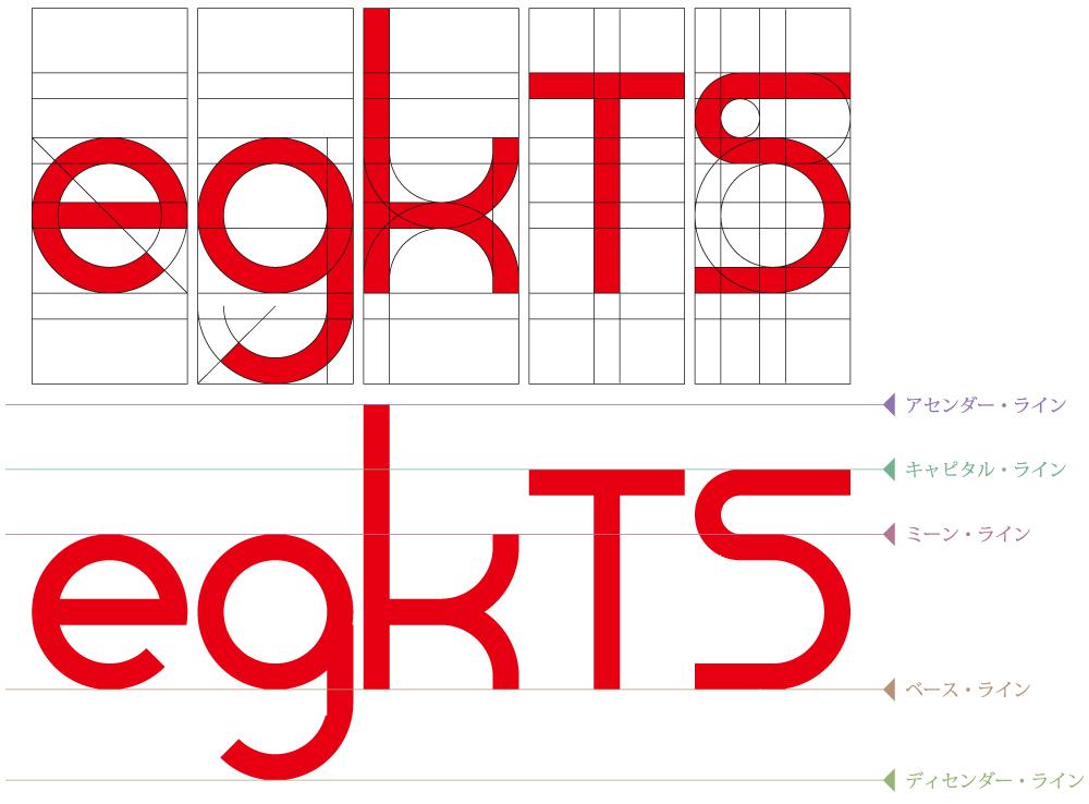ロゴやフォントの設計図