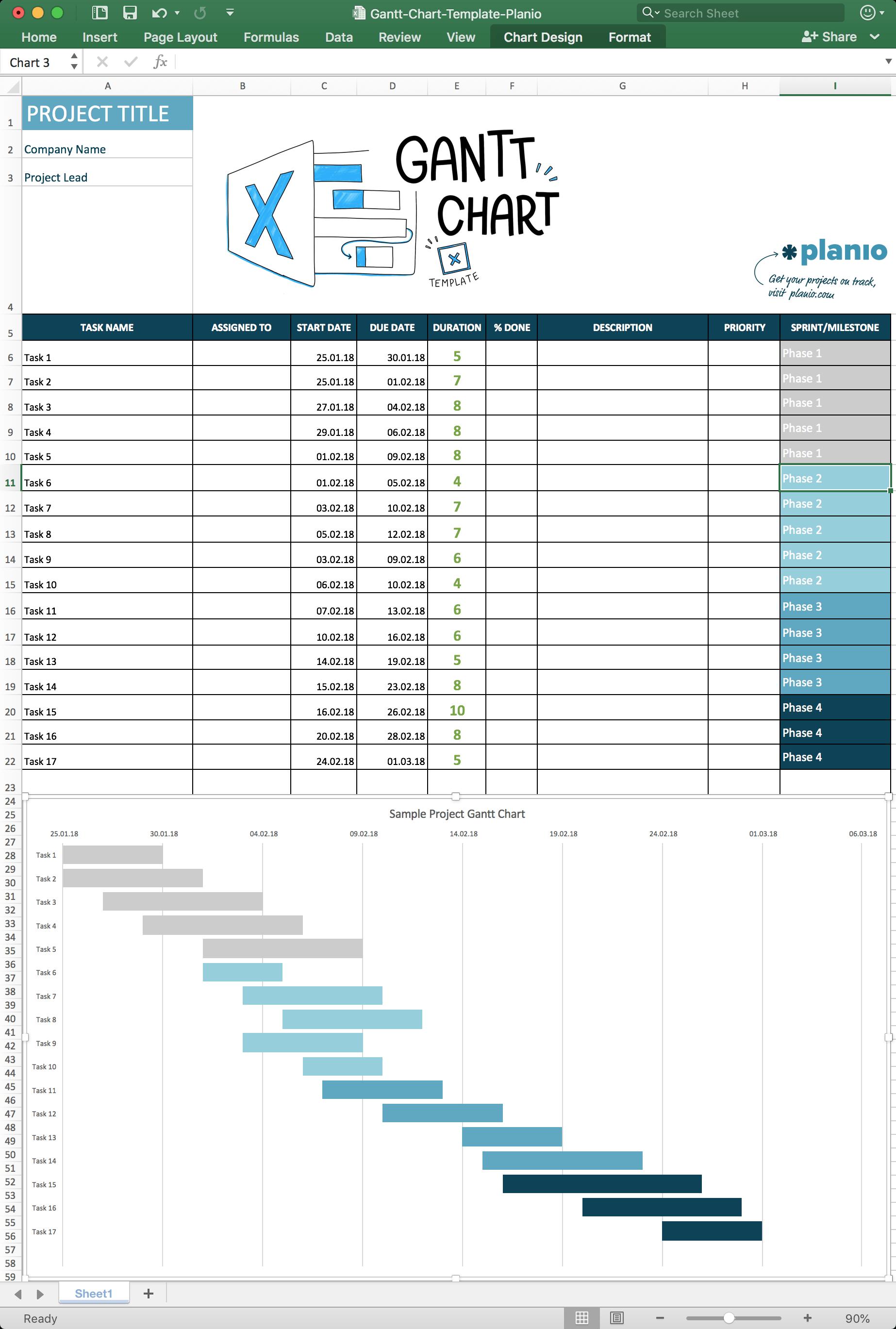 medium resolution of gantt chart excel template