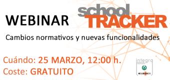 Webinar de School Tracker: Cambios normativos y nuevas funcionalidades