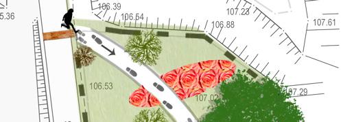 Garten der Sinne, Stadt Mücheln, Vorentwurf vom Planungsbüro planart4