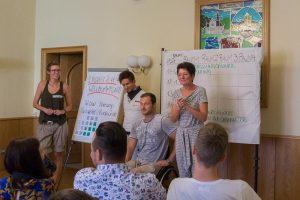 Begrüßung durch Bürgermeisterin Schöniger zum 1. Jugendbarcamp in Rodewisch