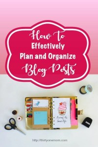 Planning and Organizing Blog Posts
