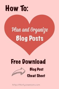 Free Download How to Plan and Organize Your Blog Posts