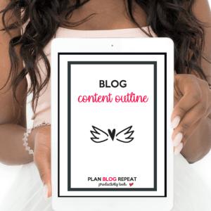 Plan Blog Reapeat Blog Content Outline