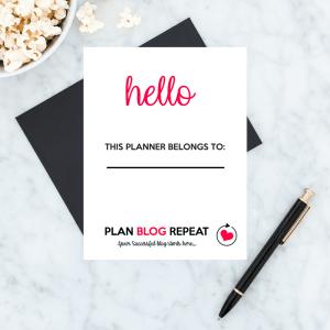 Blog Planner Dashboard