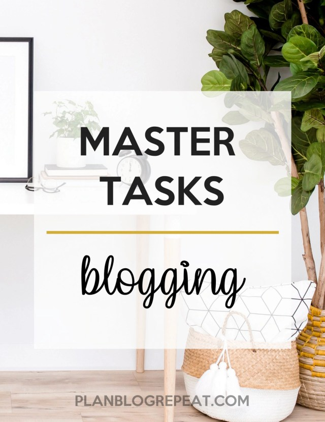 Content Strategy Blogging Master Task List