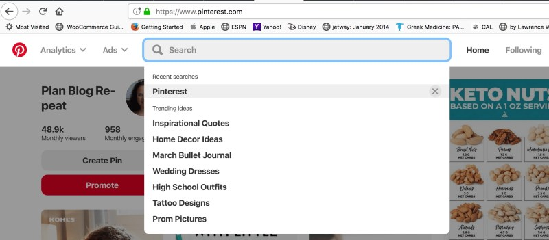 What's trending on Pinterest.