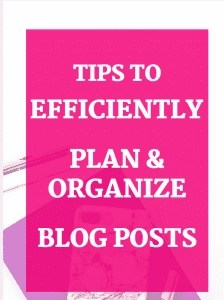 How to Efficiently Plan and Organize Blog Posts
