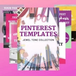 Pinterest Template - 7 Pins - Jewel Tone Collection