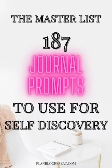 Master List Of Personal Development Journal Prompts