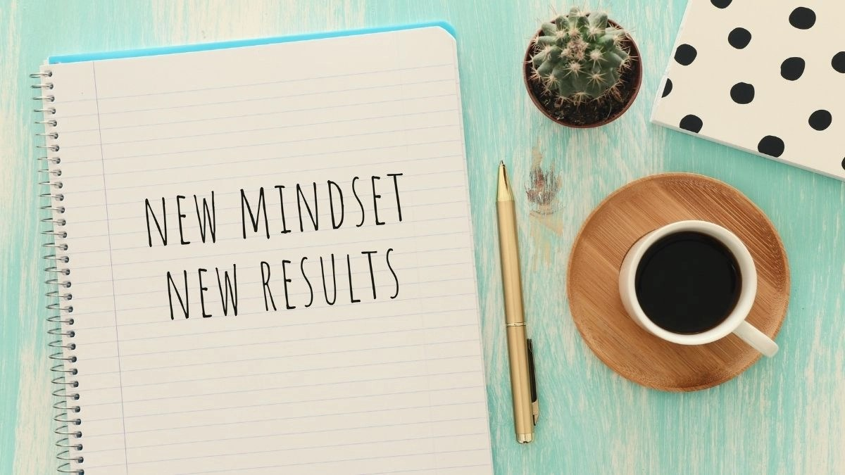 How To Change Your Mindset Notebook That Says New Mindset New Results