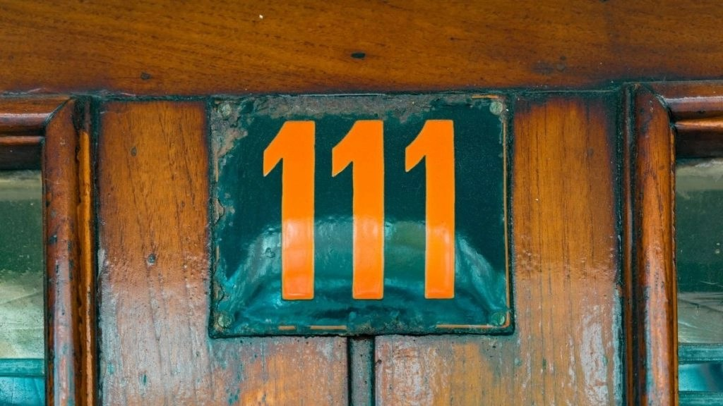 Meaning of 111 door frame with 111