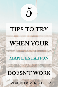 Tips To Try When Your Manifestation Doesnt work Stock