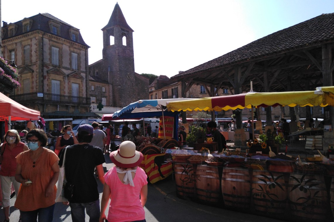 Belvès' Saturday market