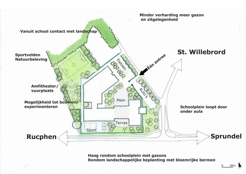 2015-04-20 schets schoolplein