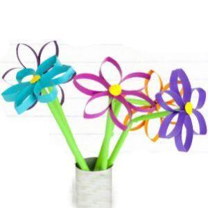 Flores rollo papel higiénico