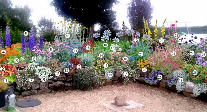 creer une plate bande de plantes vivaces