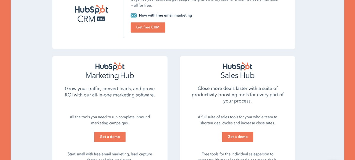 Try HubSpot software for free