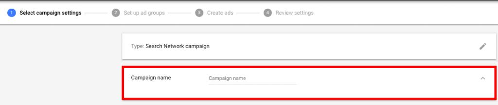 Nome Da Campanha Google Ads