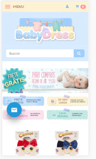 propaganda para loja de roupas infantil 2