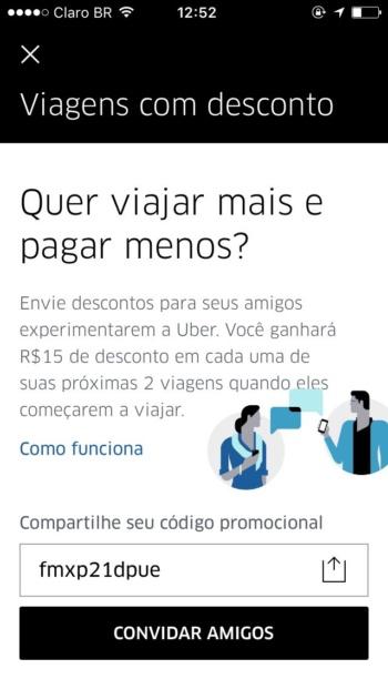 marketing de afiliados do uber