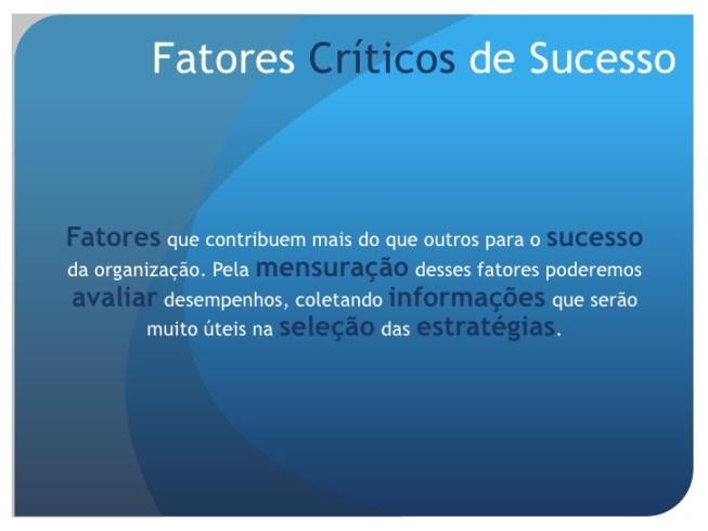 Fatores Criticos De Sucesso