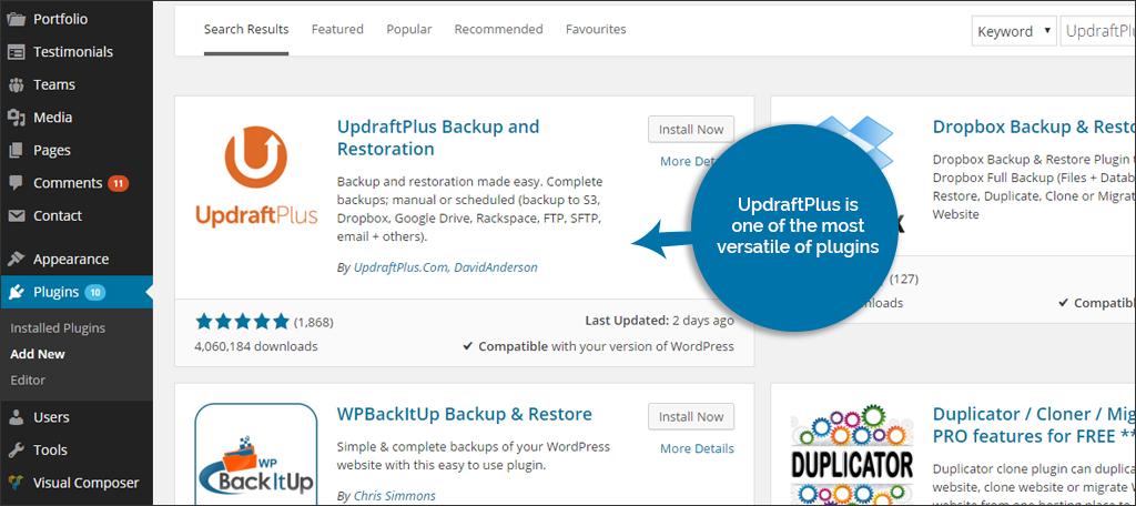 Como Fazer Backup WordPress 1