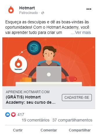 tipos de anúncio do facebook - imagem única