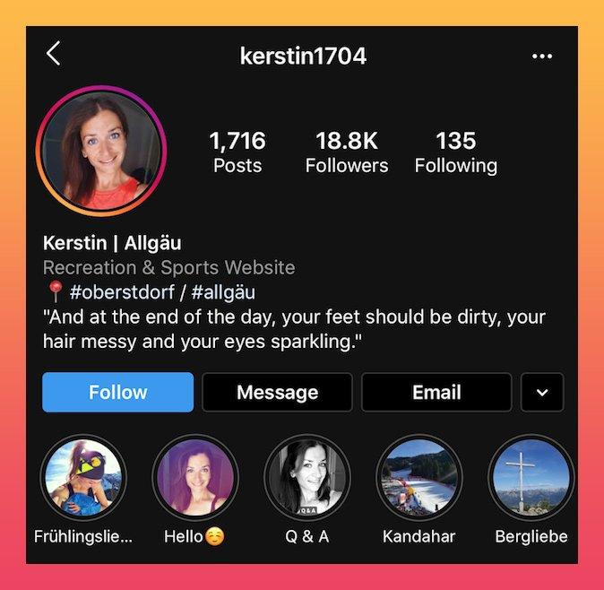Biografia do Instagram com exemplo de citações
