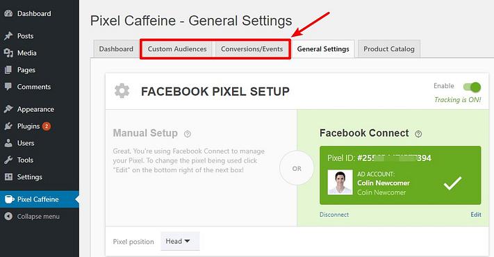 recursos avançados de cafeína de pixel