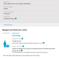 Nova Franquia de Bagagem na TAP Portugal