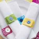Prendedor de guardanapo de bandana