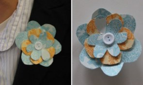 boutonniere_papel_azul