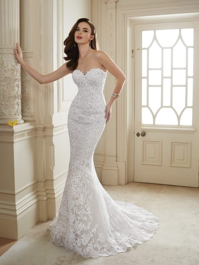 Vestidos de noiva tomara-que-caia: corte sereia. Da Tutti Sposa.