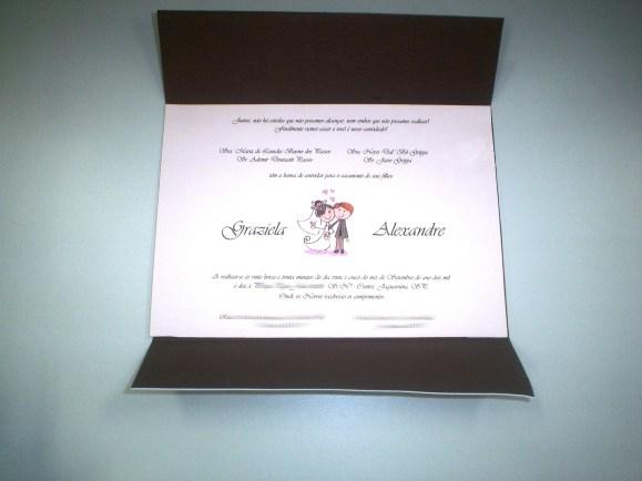 Convite de casamento feito em casa