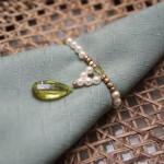 Prendedor de guardanapo para casamento na cor verde