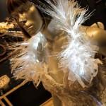 Vestido de noiva com fibra ótica