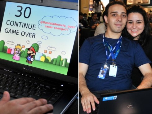 Pedido de casamento no Campus Party