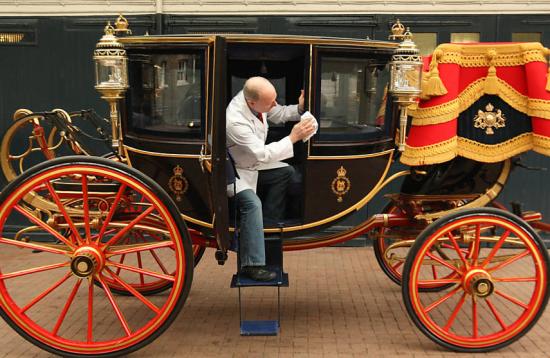 Carruagem do casamento real do príncipe William e Kate Midleton
