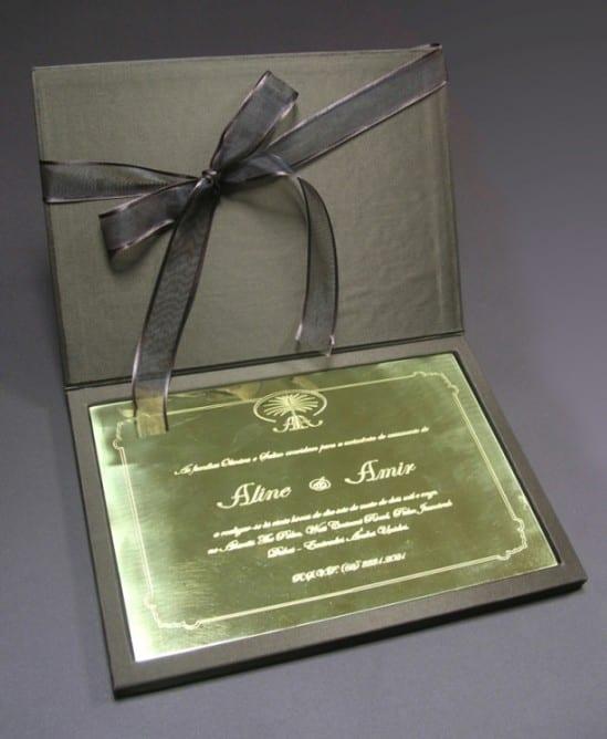 Convite de Casamento de Ouro da Grafjet Convites