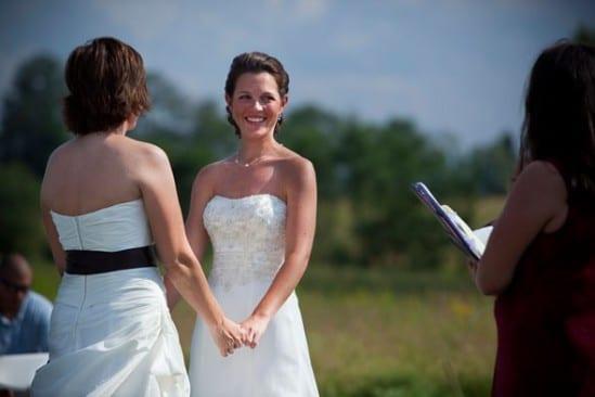 Casamento gay lésbico: cerimônia