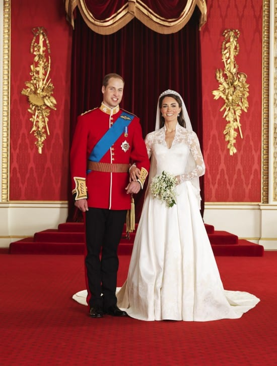 Foto oficial do casamento real de Príncipe William e Kate Middleton