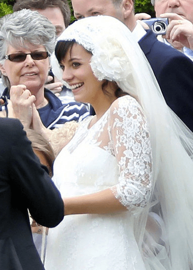 Casamento Lily Allen: arranjo de cabelo da noiva
